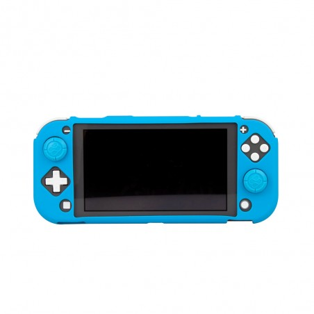 Nintendo Switch Lite Siliconen hoes met Thumb Grips - Blauw