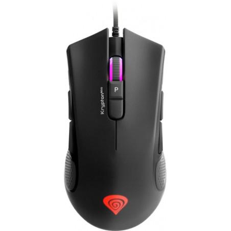 Genesis Krypton 800 - Optische gaming muis - 10.200 dpi - Met RGB verlichting - Zwart