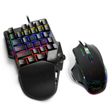 Spirit of Gamer XPERT-G900 3 in 1 RGB combo keypad muis en muismat voor PS4/Xboxone/Switch/PC - Zwart