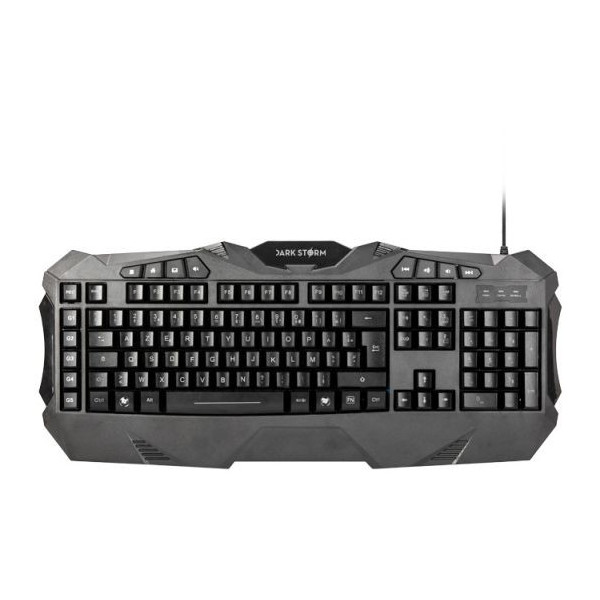 Under Control Dark Storm E-sport - Blast Gaming toetsenbord Frans Azerty Lay-out met 7 kleuren verlichting - Zwart