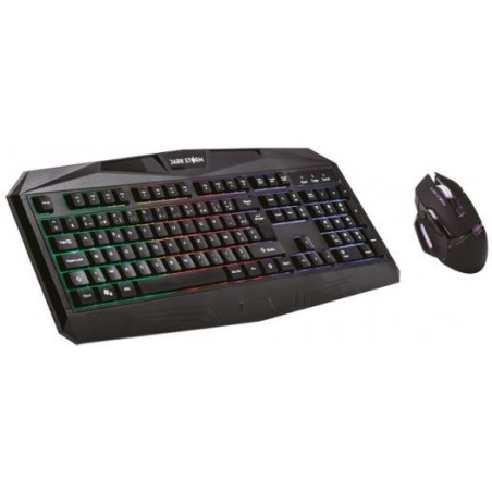 Under Control Dark Storm E-sport - Twister Gaming combo - Toetsenbord en muis Frans Azerty Lay-out met 6 kleuren verlichting - Z