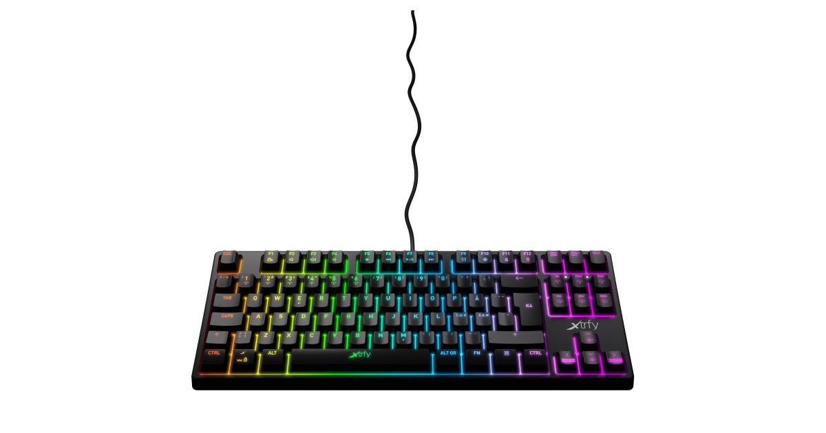 Xtrfy K4 TKL - Mechanisch Gaming toetsenbord met RGB - AZERTY Belgisch Layout - Zwart
