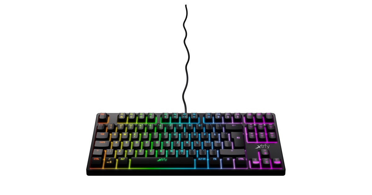 Xtrfy K4 TKL - Mechanisch Gaming toetsenbord met RGB US Layout - Zwart