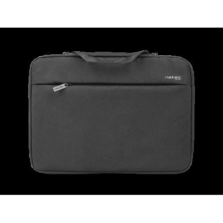 Natec Clam laptop sleeve voor 14.1 inch laptops - Zwart