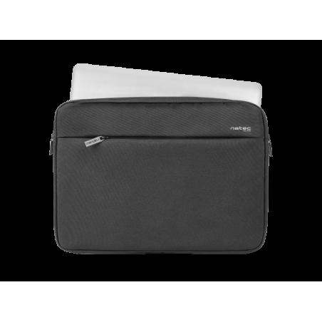 Natec Clam laptop sleeve voor 15.6 inch laptops - Zwart