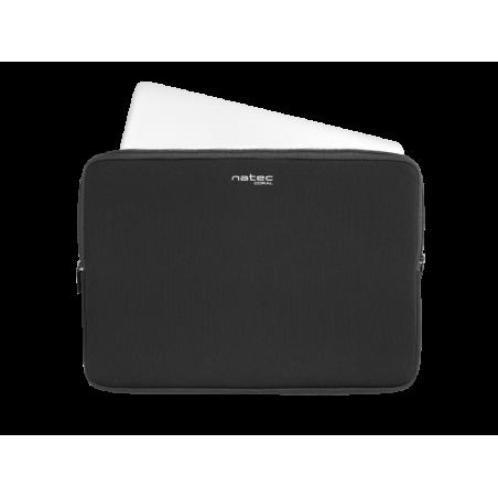 Natec Coral laptop sleeve voor 13.3 inch laptops - Zwart