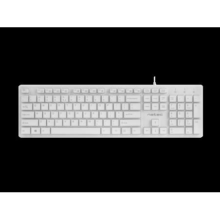Natec Discus slim compact toetsenbord US Layout - Wit