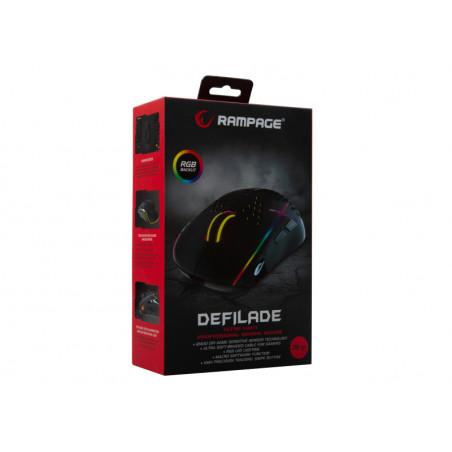 Rampage SMX-R11 Defilade lichtgewicht RGB macro gaming muis USB Zwart
