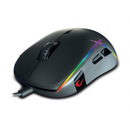 Rampage Gear-x RGB macro optische gaming muis USB Zwart