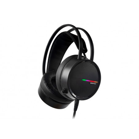 Rampage RM-K3 CASHE 7.1 surround sound RGB Gaming Headset met USB aansluiting - Zwart