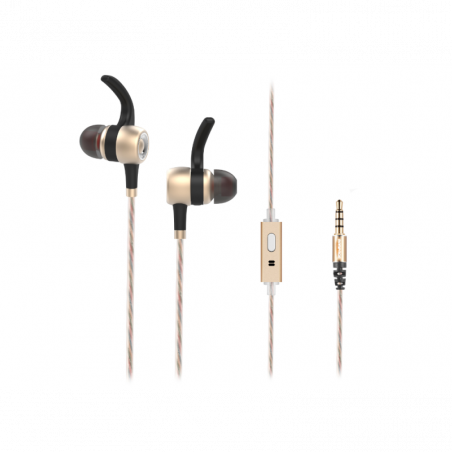 Rampage Snopy In-Ear koptelefoon SN-J9 Native - Goudkleurig