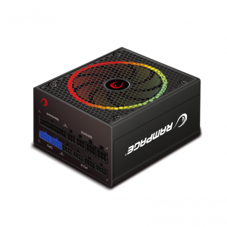 Rampage RGB-550 Power Supply - Modulair - 80 Plus Gold Certificaat - RGB LED