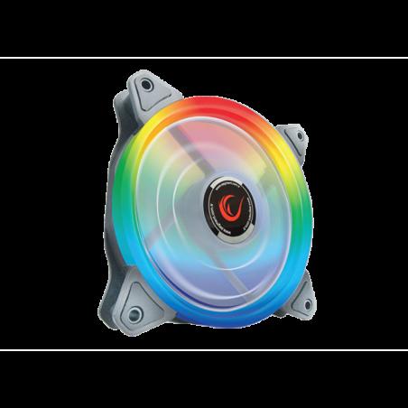 Rampage RB K4 Rainbow case fan kit met afstandsbediening - LED - 4 Fans