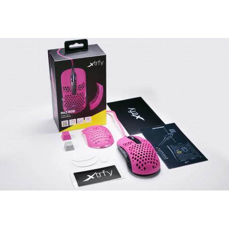 Xtrfy M42 RGB Gaming muis roze