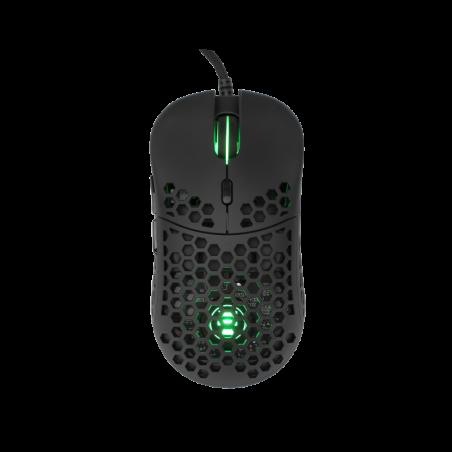 Eshark ESL-M4 NAGINATA lichtgewicht RGB Gaming muis - Zwart