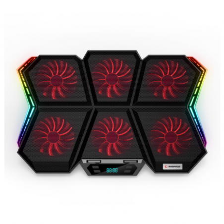 Rampage notebook cooler X-Gale 6 fans en RGB verlichting AD-RX44