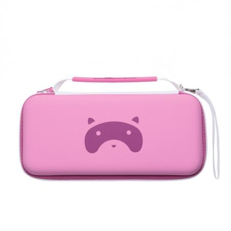 Nintendo Switch en Switch Lite - Tanooki bescherm case - Roze