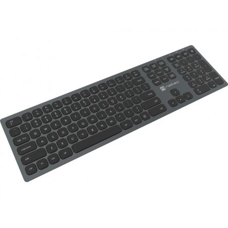 Natec Dolphin Draadloos Bluetooth toetsenbord - Grijs