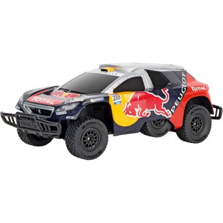 Carrera Peugeot 08 Dakar 16 Red Bull Bestuurbare RC auto