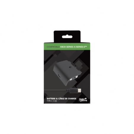 Under Control Oplaadkabel en batterij voor de Xbox Series X/S 3 meter - Zwart
