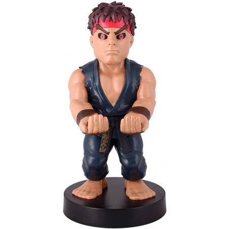 Cable Guy Evil Ryu (Street Fighter V) telefoon en game controller houder met usb oplaadkabel