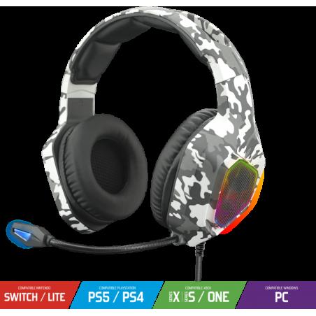 ELITE-H50 PS5 PS4 Xbox Series X/S Xbox one PC en Nintendo Switch RGB Gaming Headset Artic white