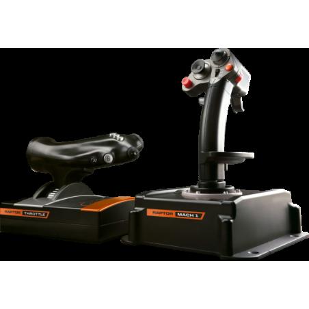 Raptor Mach 1 Joystick en Throttle combo voor PC vluchtsimulatie Games