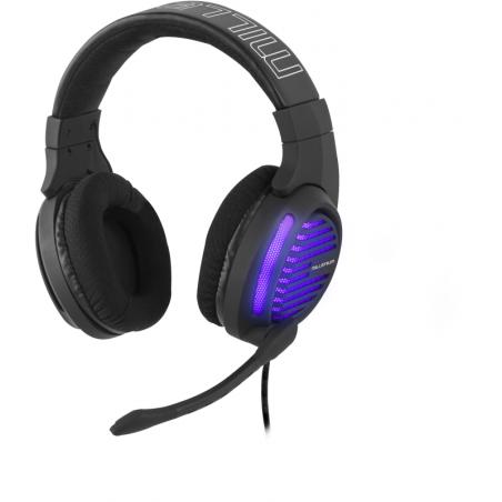 Millenium MH2 Advanced USB Gaming Headset voor de PC / MAC / PS4 met paarse LED verlichting