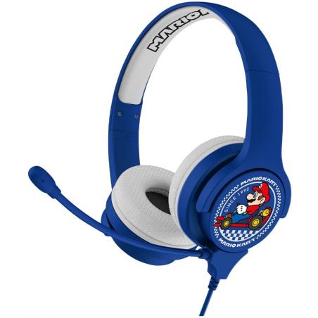 Mario kart Kinder koptelefoon met microon - Blauw