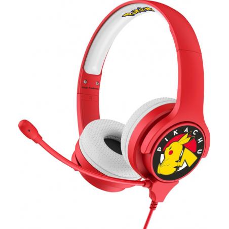 Pokemon Kinder koptelefoon met microon - Rood