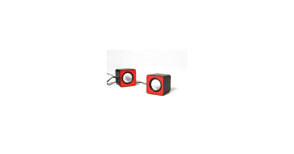 Media-Tech 6W stereo speakers USB rood