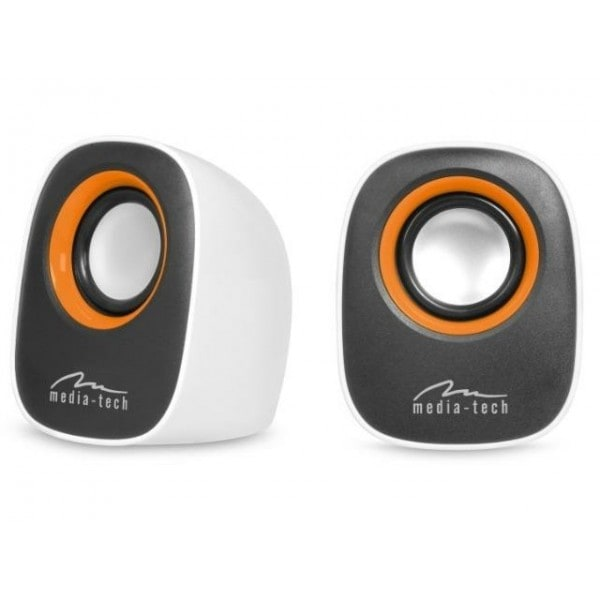 Stereo speakers via USB poort, 6W RMS, wit