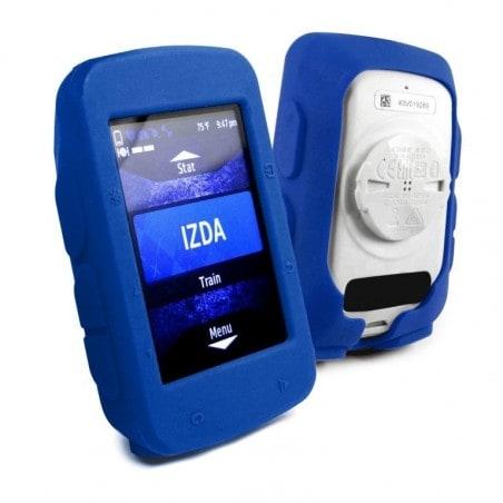 Tuff-Luv Silicone Gel vel beschermhoes voor Garmin Edge 520+ screen protector- Blauw