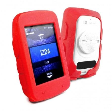 Tuff-Luv Silicone Gel vel beschermhoes voor Garmin Edge 520+ screen protector- Rood