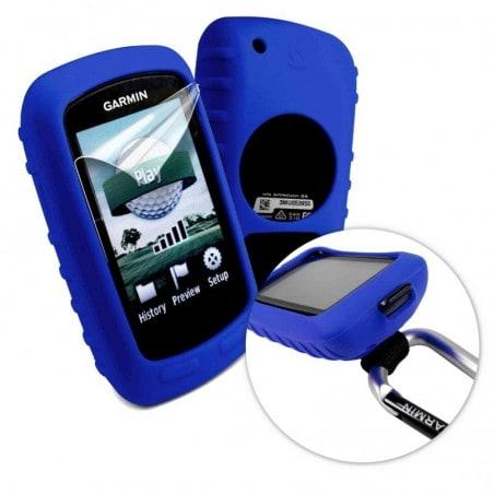 Tuff-Luv Silicone gel hoes & scherm bedekking voor Garmin Golf Approach G6 / G7- Blauw