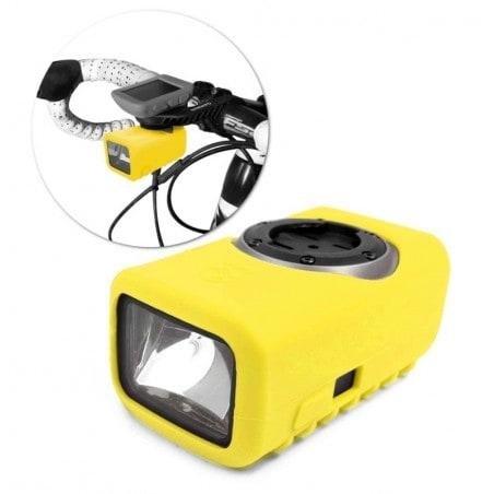 Tuff-Luv Silicone Gel bescherm hoes voor Garmin Varia Light- Geel