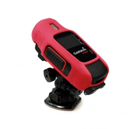 Tuff-Luv Silicone Gel bescherm hoes voor Garmin Virb / HD Elite Camera- Rood
