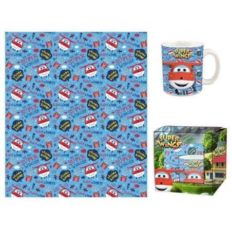 Super Wings Cadeauset (Mok en Deken)