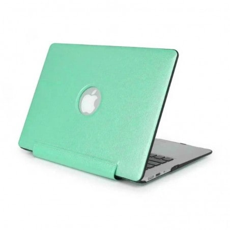 Tuff-Luv Slim Skin Shell Case - Voor de Apple Macbook Air 13.3 Inch - Glacier Aqua