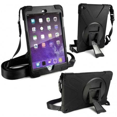 Tuff-Luv - Ultra sterke bumper beschermhoes - Voor de iPad Mini 4 - Met schouderband en screenprotec