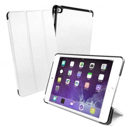 Tuff-Luv Smart Cover / Stand - Ultra sterke shell beschermhoes - Voor de iPad Mini 4 - Wit