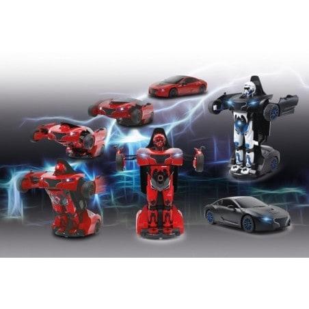 Robicar - RC - Raceauto - Transformer - 2,4GHz - 1:14 - Zwart