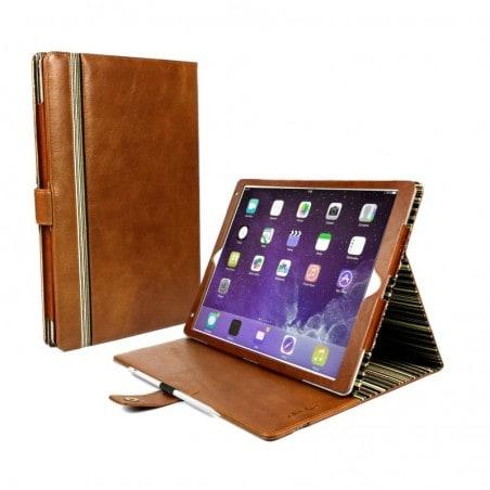 Alston Craig  - Vintage leren beschermhoes voor de Apple iPad pro 10.5 inch - bruin