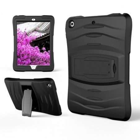 Tuff-luv - Armour shield beschermhoes met standaard voor de Apple iPad  9.7 inch (2017) - zwart