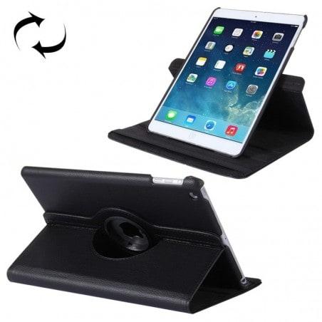 Tuff-luv - Leren beschermhoes met roterende standaard, Apple iPad 9.7 inch (2017) en air 2 - zwart