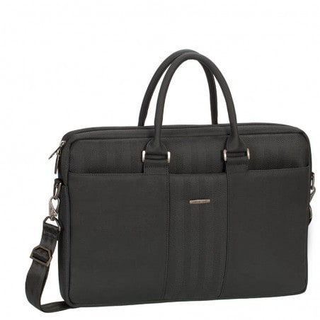 RivaCase Laptop Schoudertas Business attaché - 15.6 Inch - Extra vak voor 10.1 Inch tablet - Zwart