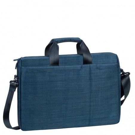RivaCase - Laptop Schoudertas - 15.6 Inch - Extra vak voor 10.1 Inch tablet - Blauw