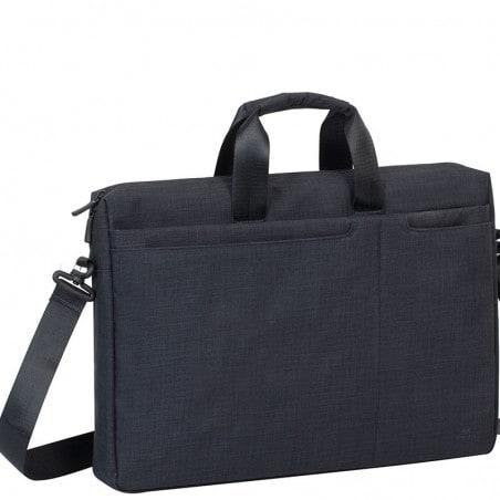RivaCase - Laptop Schoudertas - 17.3 Inch - Extra vak voor 10.1 Inch tablet - Zwart
