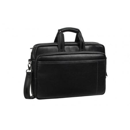 RivaCase - Laptop Schoudertas - 16 Inch - Extra vak voor 10.1 Inch tablet PU, leder look - Zwart