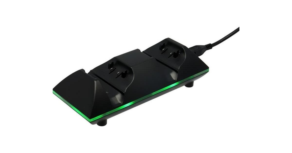 Xbox One - Dubbel oplaadstation - 2 oplaadbare batterijen - LED - Zwart